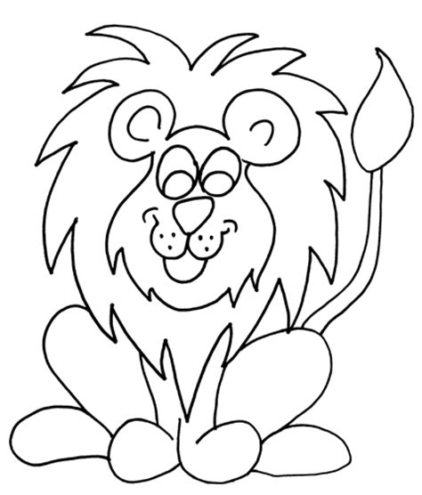 coloring pages for kids lion coloring pages