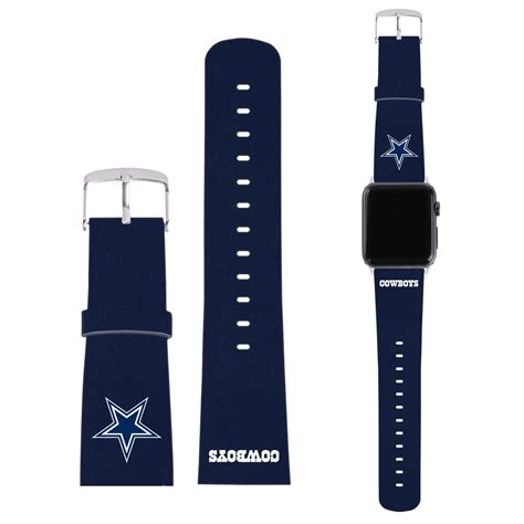 dallas apple official nfl dallas cowboys logo blue leather strap for