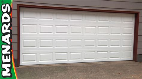 18 Foot Garage Door Prices by Garage Door How To Install Menards