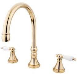 kingston brass polished brass two handle tub filler