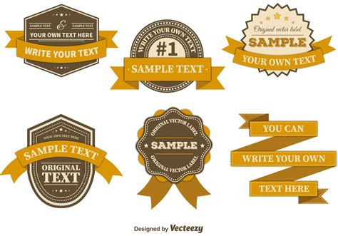 vintage badge template retro badges templates free vector stock