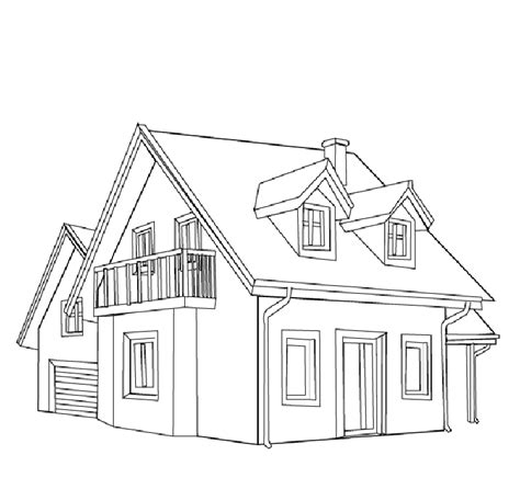 a coloring page of a house free printable house coloring pages for kids
