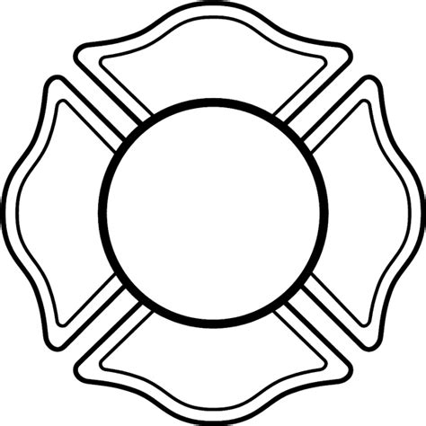 Fire Helmet Shield Clipart Clipart Suggest Helmet Shield Template