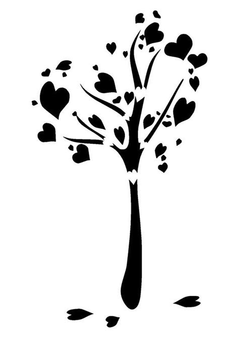 Best 25 Heart Tree Ideas On Pinterest Diy Valentine Decorations Love Canvas And Valentine Party Tree Stencil Template