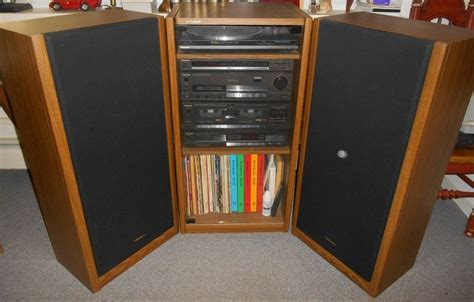 wood cabinet cd player technics complete stereo system in wood cabinet w glass
