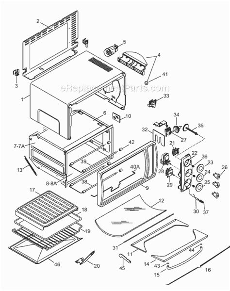Delonghi Toaster Oven Replacement Parts Delonghi Xr640 Parts List And Diagram Ereplacementparts Com