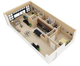 2 Bedroom Home Plans by 50 3d Floor Plans Lay Out Designs For 2 Bedroom House Or