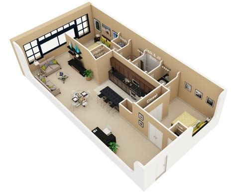 apartment floor plans 2 bedroom 50 3d floor plans lay out designs for 2 bedroom house or