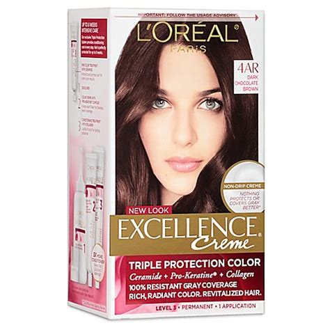 l oreal excellence creme protection permanent hair color creme medium brown 5 1 0 buy l or 233 al 174 excellence 174 creme protection hair color in 4ar chocolate brown