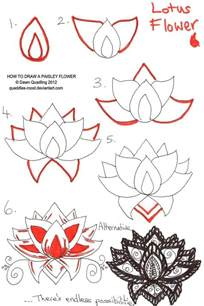How To Draw Lotus Flowers 25 Best Ideas About Lotus Drawing On Lotus