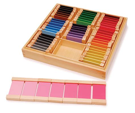 the color box montessori economy wooden colour tablets boxes 1 2 and 3