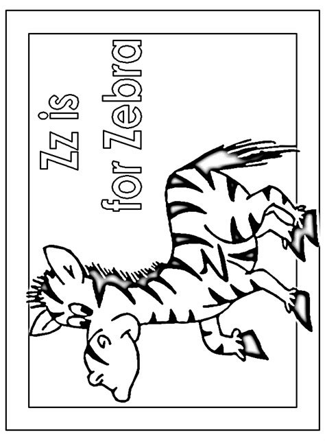 Z Zebra Coloring Page by Coloring Activity Pages Quot Zz Is For Zebra Quot Coloring Page