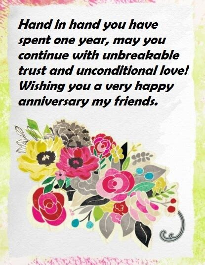 Wedding Anniversary Wishes Messages To by Wedding Anniversary Wishes Messages For A Friend Best Wishes