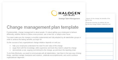 change strategy template change management plan template toolkit