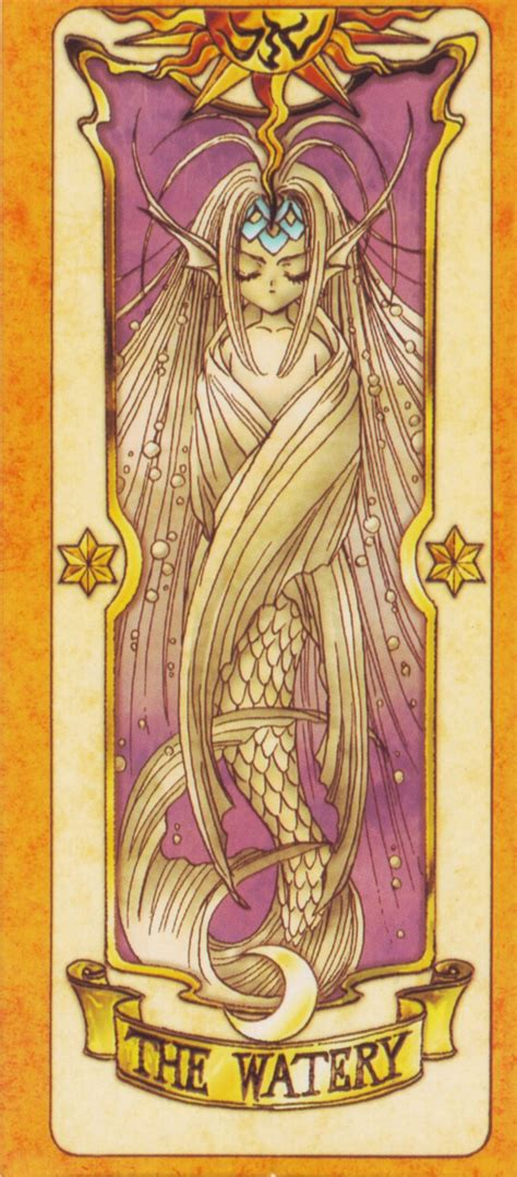 Pin Cardcaptor Clow Card the watery cardcaptor water and cards