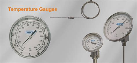 Temperature Wika temperature gauges wika