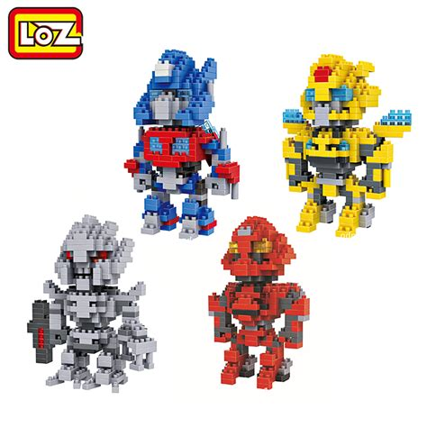 Loz Blocks Optimus Prime loz transformation robot figures toys optimus prime