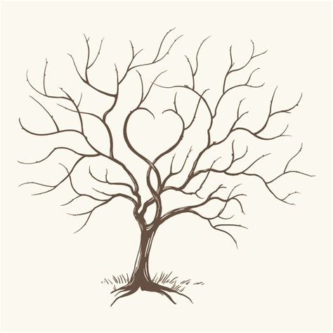 thumbprint family tree template i need to pin this so i can paint it later for our wedding