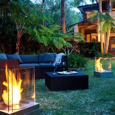 backyard torches lanterns modern garden lighting exciting ideas and practical advice