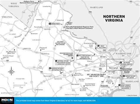 northern virginia map printable travel maps of virginia moon travel guides