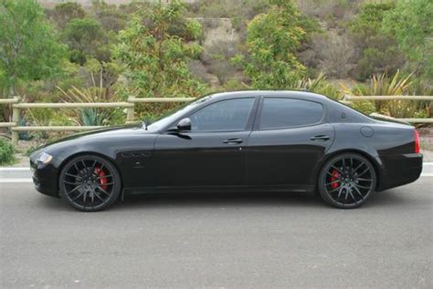 maserati blacked out sell used quot rare quot 2009 maserati quattroporte gt sport 4 7l