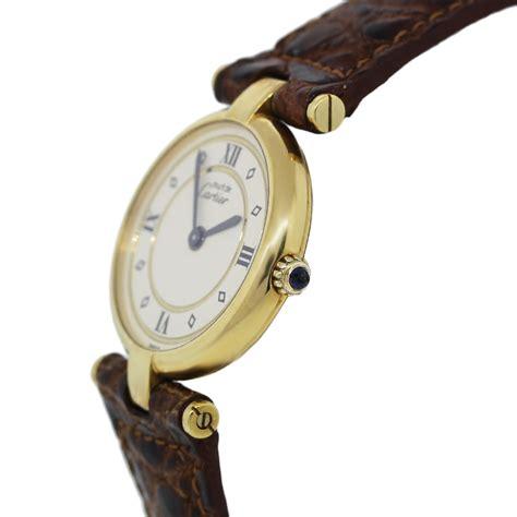 Cartier Classic 1007 Gold Brown cartier must de cartier classic