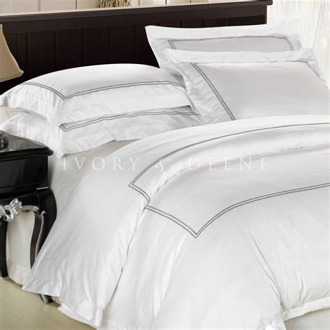 Duvet Covers Queen White White Cotton Quilt Cover Satin Trim Queen Size Duvet Doona