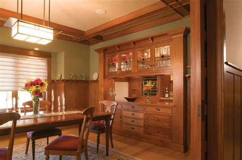 live oak canyon residence craftsman dining room