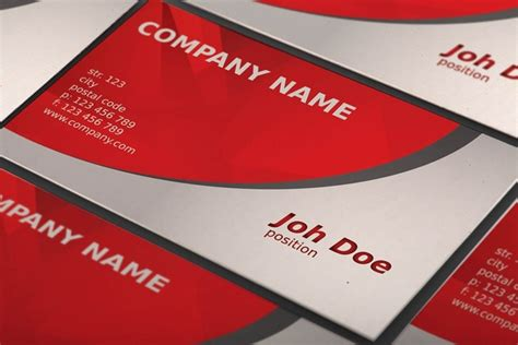 abstract red business card template free vector in adobe
