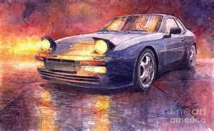 Porsche Artwork Porsche 944 Turbo Painting By Yuriy Shevchuk