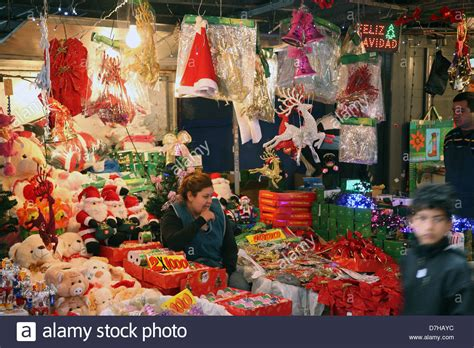 santiago de chile christmas decorations stock photo