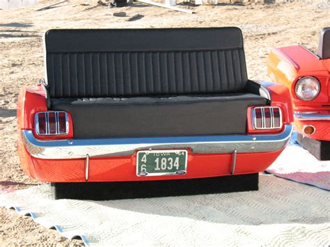 mustang couch new retro cars restored classic car couches sofas and