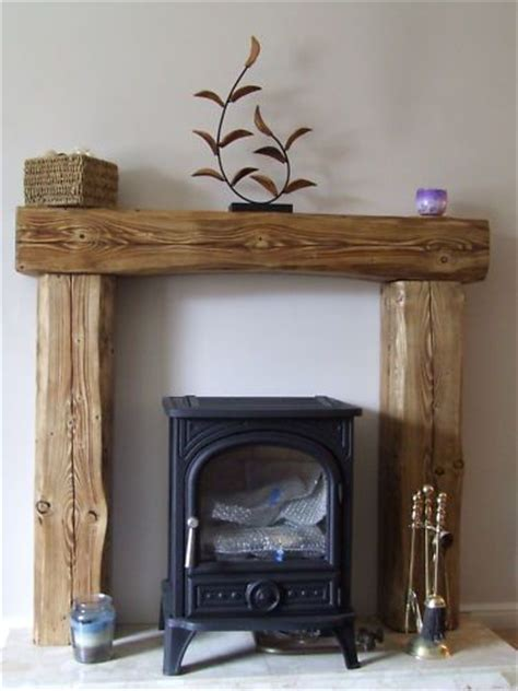 Wooden Beam Above Fireplace by Details About Solid Pine Wood Mantle Fireplace Beam