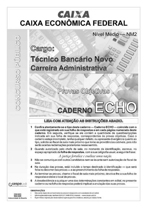 Jc Online - Concurso Caixa - Caderno de provas