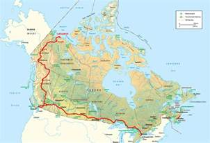 Canada Road Map by Road Trip Route