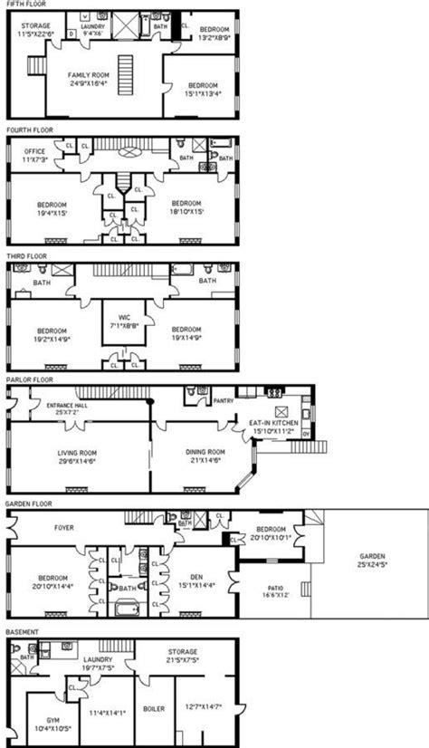 brooklyn brownstone floor plans this grand flowery remsen street brownstone wants 6 2m