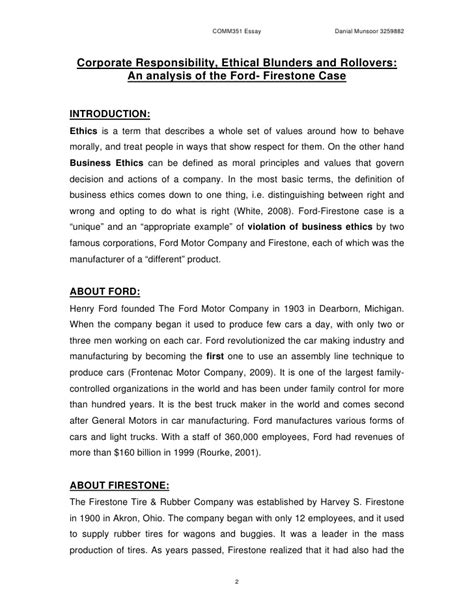 ford firestone an analysis of the ford firestone