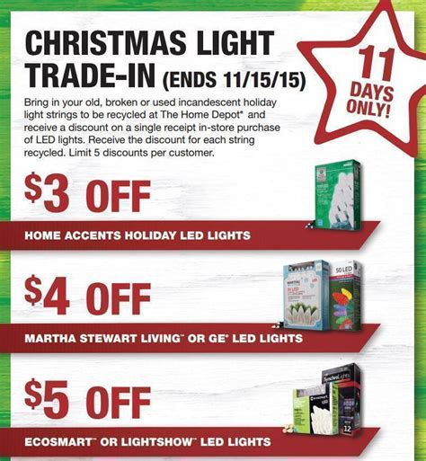home depot christmas light trade in through 11 15