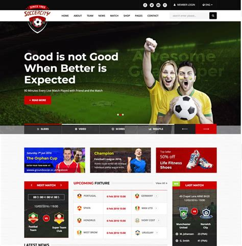 15 Best Responsive Sports Website Templates 2018 Designmaz Sports Website Templates