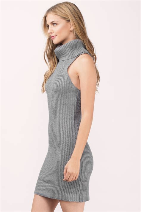 Dress Turtle V Neck sweater dresses for fall oversized turtlenecks knit