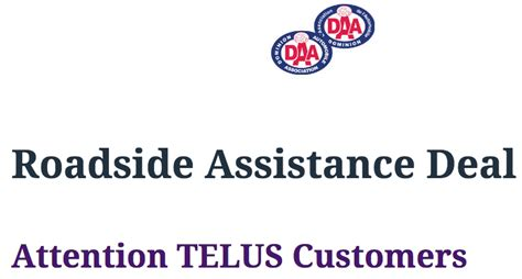 Telus Mobility Phone Number Lookup Telus Mobility Customers Get 1 Month Free Roadside Assistance From Daa Iphone In