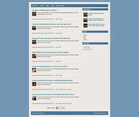 free blogger templates download template page one mas sugeng