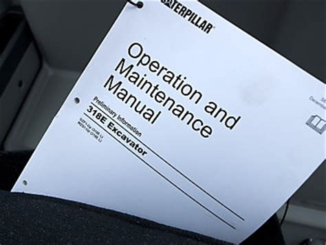 o and m manual template cat safety services caterpillar