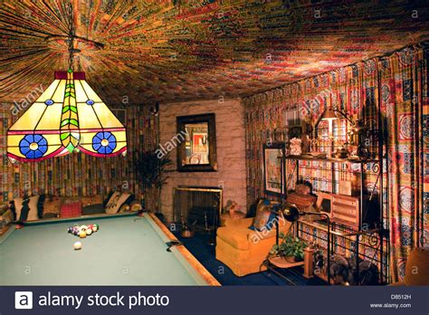graceland pool room a view of the pool room in elvis s mansion graceland in stock photo royalty free image