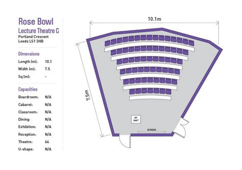 lecture hall floor plan rose bowl