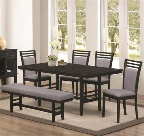 6 piece dining set with bench lasalle 6 piece dining set with bench all nations furniture