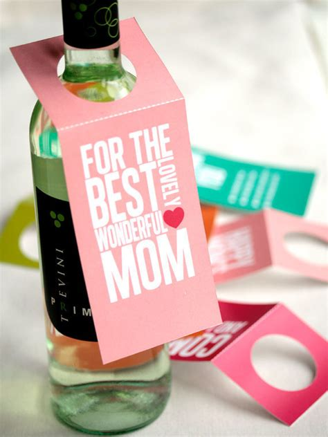 printable gift tags for wine bottles items similar to mother s day printable tag bottle wine