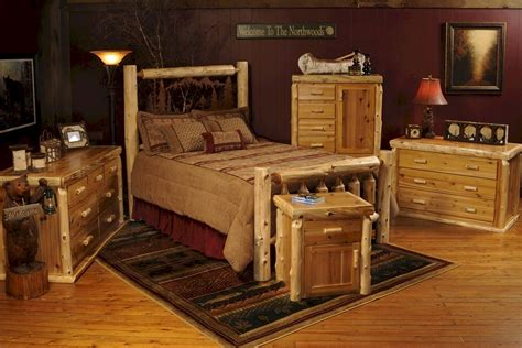 cedar log bed w metal wilderness a log furniture
