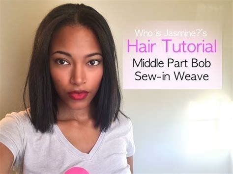 how to wrap a middle part bob weave who is jasmine middle part bob sew in weave tutorial