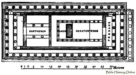floor plan of parthenon plan at the parthenon at athens images of ancient